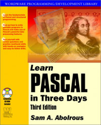 Learn Pascal in Three Days (With CD-ROM)