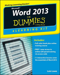 Word 2013 eLearning Kit For Dummies