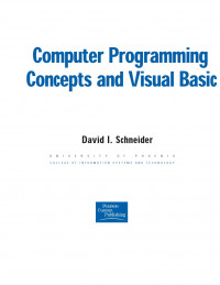 Computer Programming Concepts and Visual Basic