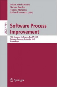 Software Process Improvement: 14th European Conference, EuroSPI 2007, Potsdam, Germany, September 26-28, 2007, Proceedings