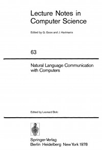 Natural language communication with computers (Lecture notes in computer science)