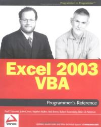 Excel 2003 VBA Programmer's Reference (Programmer to Programmer)