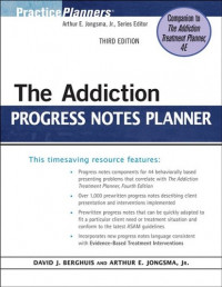 The Addiction Progress Notes Planner (PracticePlanners?)