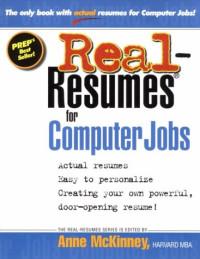 Real-Resumes for Computer Jobs (Real-Resumes Series)