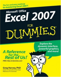 Excel 2007 For Dummies (Computer/Tech)