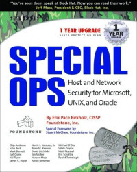 Special Ops: Host and Network Security for Microsoft, UNIX, and Oracle