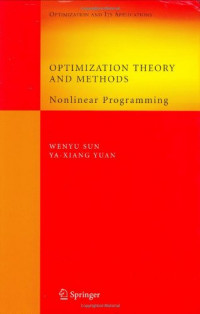 Optimization Theory and Methods: Nonlinear Programming