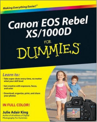 Canon EOS Rebel XS/1000D For Dummies (Computer/Tech)