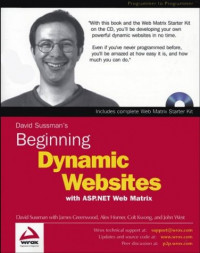 Beginning Dynamic Websites : with ASP.NET Web Matrix (Programmer to Programmer)