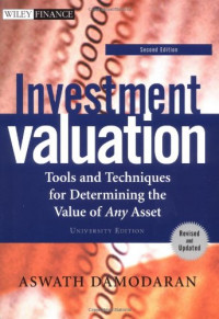 Investment Valuation 2nd Edition University with Investment Set