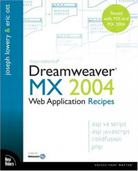 Dreamweaver MX 2004 Web Application Recipes