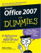 Office 2007 For Dummies (Computer/Tech)