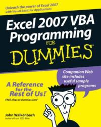 Excel 2007 VBA Programming For Dummies (Computer/Tech)