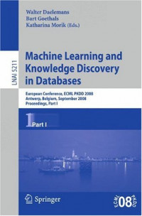 Machine Learning and Knowledge Discovery in Databases: European Conference