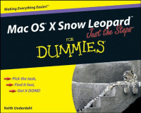 Mac OS X Snow Leopard Just the Steps For Dummies (Computer/Tech)