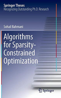 Algorithms for Sparsity-Constrained Optimization (Springer Theses)