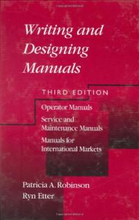 Writing and Designing Manuals, Third Edition