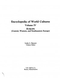 Encyclopedia of World Cultures: Europe (Encyclopedia of World Cultures)