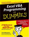 Excel VBA Programming For Dummies (Computer/Tech)