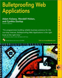 Bulletproofing Web Applications (With CD-ROM)