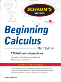 Schaum's Outline of Beginning Calculus (Schaum's Outline Series)