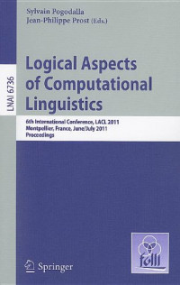 Logical Aspects of Computational Linguistics: 6th International Conference, LACL 2011