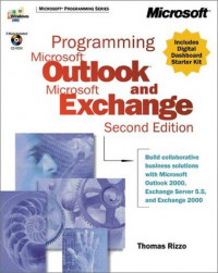 Programming Microsoft Outlook and Microsoft Exchange (with CD-ROM)