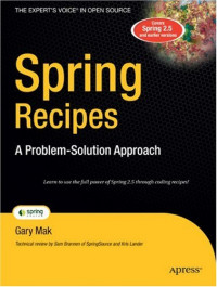 Spring Recipes: A Problem-Solution Approach (Books for Professionals by Professionals)