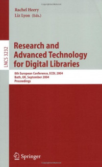 Research and Advanced Technology for Digital Libraries: 8th European Conference, ECDL 2004, Bath, UK, September 12-17, 2004, Proceedings