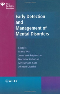 Early Detection and Management of Mental Disorders