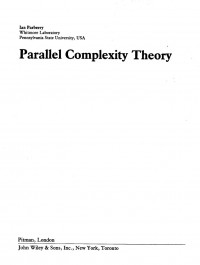 Parallel Complexity Theory (Research Notes in Theoretical Computers Science)