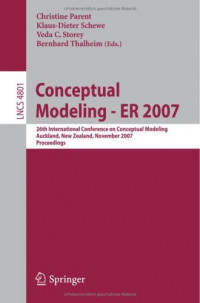 Conceptual Modeling - ER 2007: 26th International Conference on Conceptual Modeling