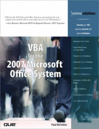 VBA for the 2007 Microsoft(R) Office System (Business Solutions)