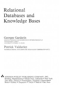 Relational Databases and Knowledge Bases