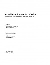 Air Pollution from Motor Vehicles: Standards and Technologies for Controlling Emissions