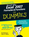 Microsoft Office Excel 2007 Formulas & Functions For Dummies (Computer/Tech)