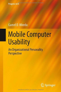 Mobile Computer Usability: An Organizational Personality Perspective (Progress in IS)
