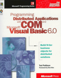 Programming Distributed Applications With Com & Microsoft Visual Basic 6.0