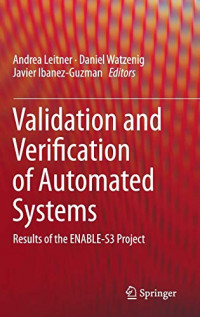 Validation and Verification of Automated Systems: Results of the ENABLE-S3 Project
