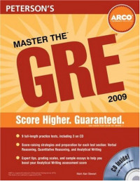 ARCO Master the GRE 2009 (with CD)