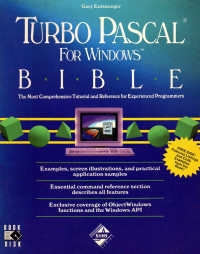 Turbo Pascal for Windows Bible/Disk