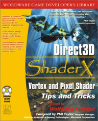 Direct3D ShaderX: Vertex and Pixel Shader Tips and Tricks with CDROM