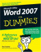 Word 2007 For Dummies (Computer/Tech)