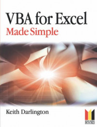 Vba for Excel Made Simple (Made Simple Programming)