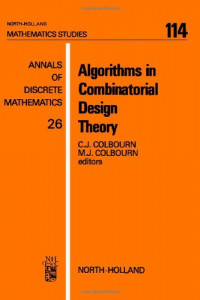 Algorithms in Combinatorial Design Theory (Mathematics Studies)