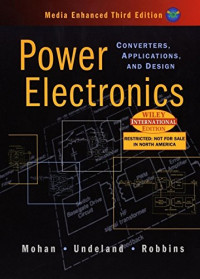 Power Electronics ; Converters Applications and Design THIRD EDITION INTERNATIONAL EDITION INCLUDES