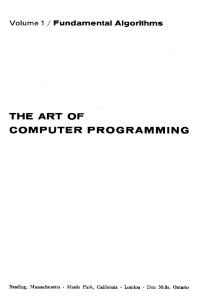 The Art of Computer Programming. Vol 1: Fundamental Algorithms. 2nd Printing.