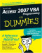 Access 2007 VBA Programming For Dummies (Computer/Tech)