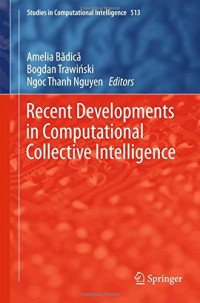Recent Developments in Computational Collective Intelligence (Studies in Computational Intelligence)