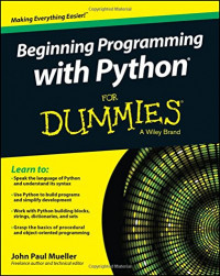 Beginning Programming with Python For Dummies (For Dummies Series)